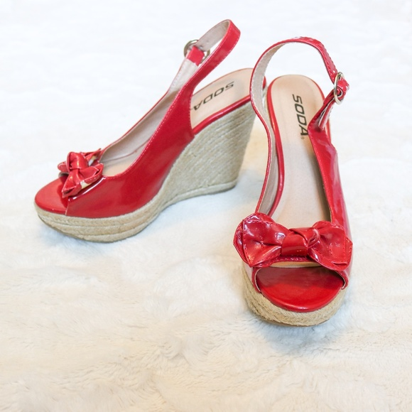 Soda Shoes - Red Wedge